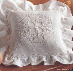 Crochet.  Fundas de almohada Decoración para almohadas (1) (562x547, 235Kb)