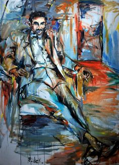 Elaine de Kooning, famous commissions was for President John F. Kennedy, abstract art of Elaine de Kooning. Willem De Kooning, Expressionist Artists, Abstract Expressionism, Abstract Art, Figure Painting, Painting & Drawing, Life Drawing, De Kooning Paintings, Tamara Lempicka