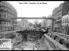 Construction of the subway station in the Rue de Rome on March Paris, France — 1902 Old Paris, Vintage Paris, Beijing, Ponte Do Brooklyn, Empire Time, Rome, Metro Paris, Impressive Image, Best Vacation Destinations