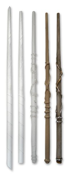 DIY Wand (This project is all over the webbernets: just make a paper tube, fill it with hot glue, and decorate.)