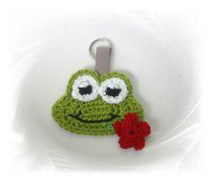 Schlüsselanhänger - Frosch mit Blume  Schlüsselanhänger, Taschenanhänger Frosch