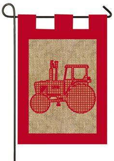 IAmEricas Flags - Burlap Tractor Garden Flag, $15.00 (http://www.iamericasflags.com/products/burlap-tractor-garden-flag.html)