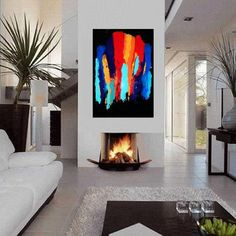 Abstract Resin Art on XLG canvas ' Painted on My by HalfBakedArt, $250.00
