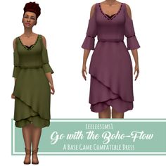 "Go with the Boho-Flow - A BGC DressHere's the latest ""Pick the WIP"" winner! • Comes in Smubuh's Mile High Palette • Found in ""Short Dresses"" category TOU: If you want to recolor or retexture it, go ahead, just please don't include the mesh. DOWNLOAD:..."