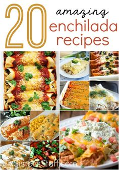 20 amazing enchilada recipes your family will love! | SixSistersStuff.com