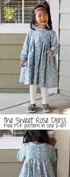 cce83ca872e9 free dress pattern - sweet rose dress for girls size from Life Sew Savory