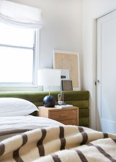emily-henderson_sapira-mattress_diy-headboard_brady-tolbert_bedroom_green-velvet_channel-tufting_channel-tufted_masculine_boho_chic_headboard_10