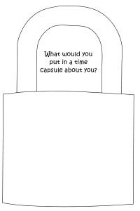 Worksheet and question cards for children to fill in the padlock with lots of things about them.