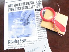 mystery: who stole the cookie from the cookie jar?  hahahahaha!