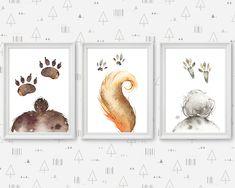 Woodland Wilderness Tracks Nursery Art, Animal Tails, Baby Boy Decor, Squirrel Bear Bunny Butt by HolaSunshineDesigns on Etsy Animal Nursery, Nursery Art, Bunny Nursery, Animal Tails, Baby Deer, Baby Boy, Boy Decor, Wall Decor, Floral Printables