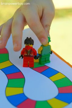 Free printable sight word game played with LEGO minifigs! Teach kids to read in a fun and engaging way. Uses Dolch sight words. Great for classrooms or homeschooling.