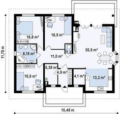 Проекты одноэтажных домов – лучшие цены на готовые проекты одноэтажных домов в России | DOM4M