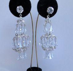 Vintage Hattie Carnegie earrings. Crystal by JewelryOnVintageLane