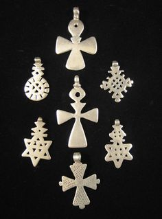 These old silver Coptic crosses | Made and collected in Ethiopia. | Late 19th early 20th Century