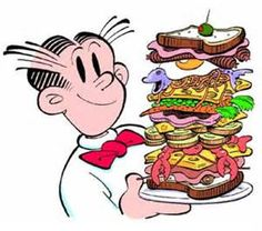 Brown Thumb Mama: Dinner Recipes with Lunchmeat.a Dagwood sandwich! Dagwood Sandwich, National Sandwich Day, Blondie And Dagwood, Vintage Recipes, My Memory, Our Lady, Cartoon Characters, Childhood Characters, Book Characters