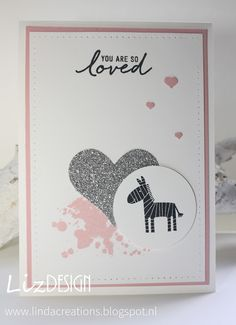Zoo Babies Stampin Up Card LizDesign