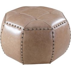 Blanche Leather Ottoman