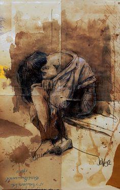 "Saatchi Art Artist Loui Jover; Drawing, ""lost boy"" #art"