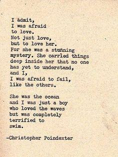 I admit, I was afraid to love