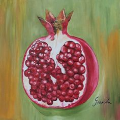 "Saatchi Online Artist Graciela Castro; Painting, ""Half Pomegranate"" #art"