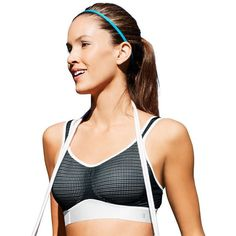8dc2d7674aa35 Champion Bra  SmoothTec Mesh Medium-Impact Sports Bra B9501 ( 35) ❤ liked