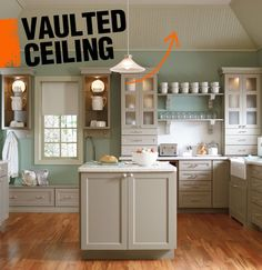 A vaulted ceiling simply refers to a ceiling that is peaked and the walls that meet are either sloped or arched.