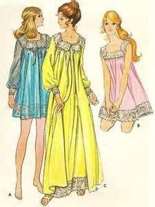Vintage Lingerie Pattern /Vintage Nightgown/ Peignoir Pattern