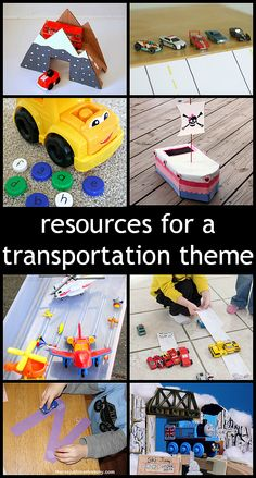 25 Resources for a Preschool Transportation Theme collected by www.fun-a-day.com as part of Share It Saturday