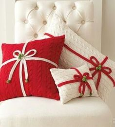 6 manualidades de navidad. Cojines navideños DIY