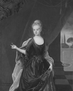 Johan Starbus, Portrait of Marie Leszczyńska, 1712, Oil on canvas, 146 x 117 cm (National museum)