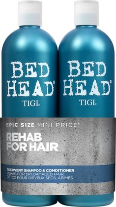 Get your hair's hydration back on track with the TIGI Bed Head Urban Antidotes 2 Recovery Shampoo and Conditioner Tween Duo. This restorative hair care duo will begin your hair's road to recovery, restoring hydration and deeply cleansing both the Hair Detox, Hair Cleanse, Good Shampoo And Conditioner, Dry Shampoo, Bed Head Shampoo, Deep Cleansing Shampoo, Hydrate Hair, Purple Shampoo, Moisturizing Shampoo