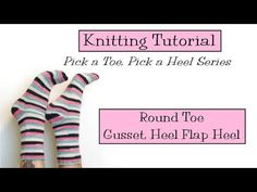 Round Toe/Gusset Heel Flap Heel - VeryPink offers knitting patterns and video tutorials from Staci Perry. Short technique videos and longer pattern tutorials to take your knitting skills to the next level. Easy Knitting, Knitting Stitches, Knitting Socks, Socks And Heels, Knit Crochet, Knitting Patterns, The Creator, Video Tutorials, Youtube
