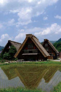 the World Heritage, Shirakawa-go village, Gifu, Japan 白川郷