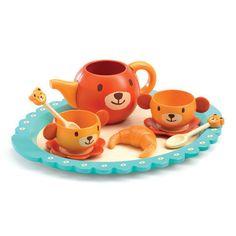Djeco Teddy Bear's Party Set Teddy Bear Party, Teddy Bears, Croissant, Picnic Time, Christmas 2016, Tray, Plates, Mugs, Dolls