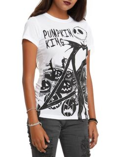 The Nightmare Before Christmas Pumpkin King Girls T-Shirt | Hot Topic