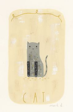 Cat - Original painting 6x4.wintersmoke by mark b