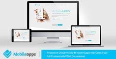 MobileApps - Responsive Mobile App Landing Page-HTML Template . MobileApps is a Fully Responsive Mobile App Landing Page HTML Template built on Bootstrap, HTML5, CSS3, jQuery and Ajax suitable for Mobile App landing page or any other product showcase purpose. This template is fully responsive and highly customizable – looks awesome on tablets and mobile