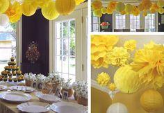 Uma tendência que está voltando bastante na decoração de algumas festinhas são essas bolas de casinha de abelha feitas de papel de seda. Acho que eram mais comuns nos anos 80 e 90, e desde então ca…
