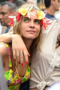 Cara Delevingne lets her hair down at Notting Hill Carnival