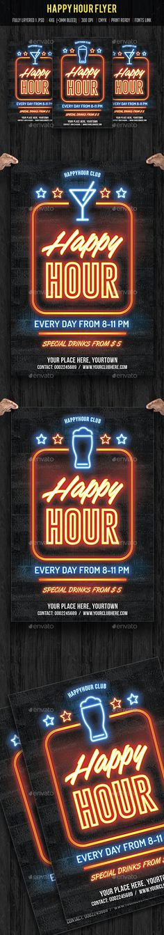 Happy Hour Flyer Template PSD