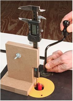 How to Use Dial Calipers to Set Router Bit Height on a Router Table. Rockler.com