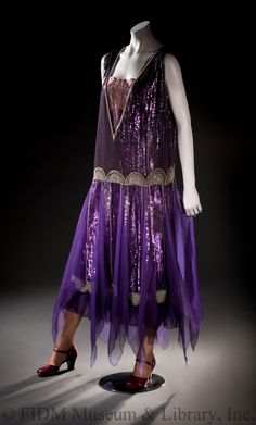 Dress (image 1) | House of Poiret | French | 1928 | silk chiffon, sequins | FIDM Museum | Helen Larson Historic Fashion Collection