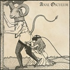 """Illustration for a new born music project called """"Anal Osculum"""""""