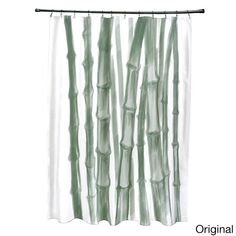71 x 74-inch Sketched Bamboo Shower Curtain - Overstock Shopping - The Best Prices on Bath Decor
