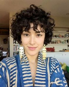 A curly pixie cut makes for some of the most fun ways to wear your curly hair! We have put together our favorite ways on how to style a curly pixie cut that is perfect for the holiday season! Short Curly Pixie, Curly Hair Cuts, Cute Hairstyles For Short Hair, Short Hairstyles For Women, Wavy Hair, Curly Hair Styles, Kinky Hair, Curly Bangs, Trendy Hair