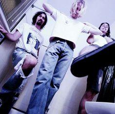 Kris Novoselic, Kurt Cobain and Dave Grohl #Nirvana