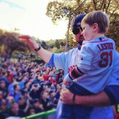 A special moment for father and son. #WorldSeries Champs!