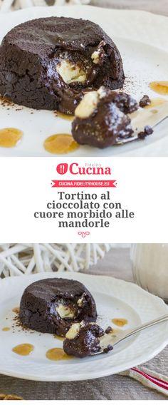 Tortino al #cioccolato con cuore morbido alle #mandorle della nostra utente Alessia. Unisciti alla nostra Community ed invia le tue ricette!