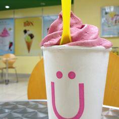 #yogen #yogurt #icecream #raspberry #almond