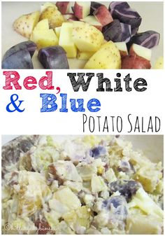 An easy and delicious potato salad recipe using red, white and blue potatoes.